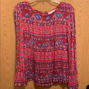 Loft patterned top